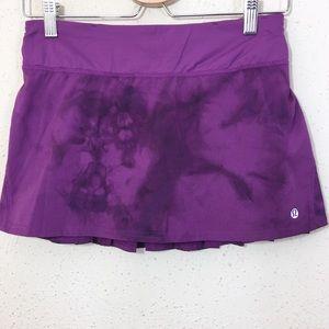 Lululemon Run Speed Skirt Pleated Back Purple 4